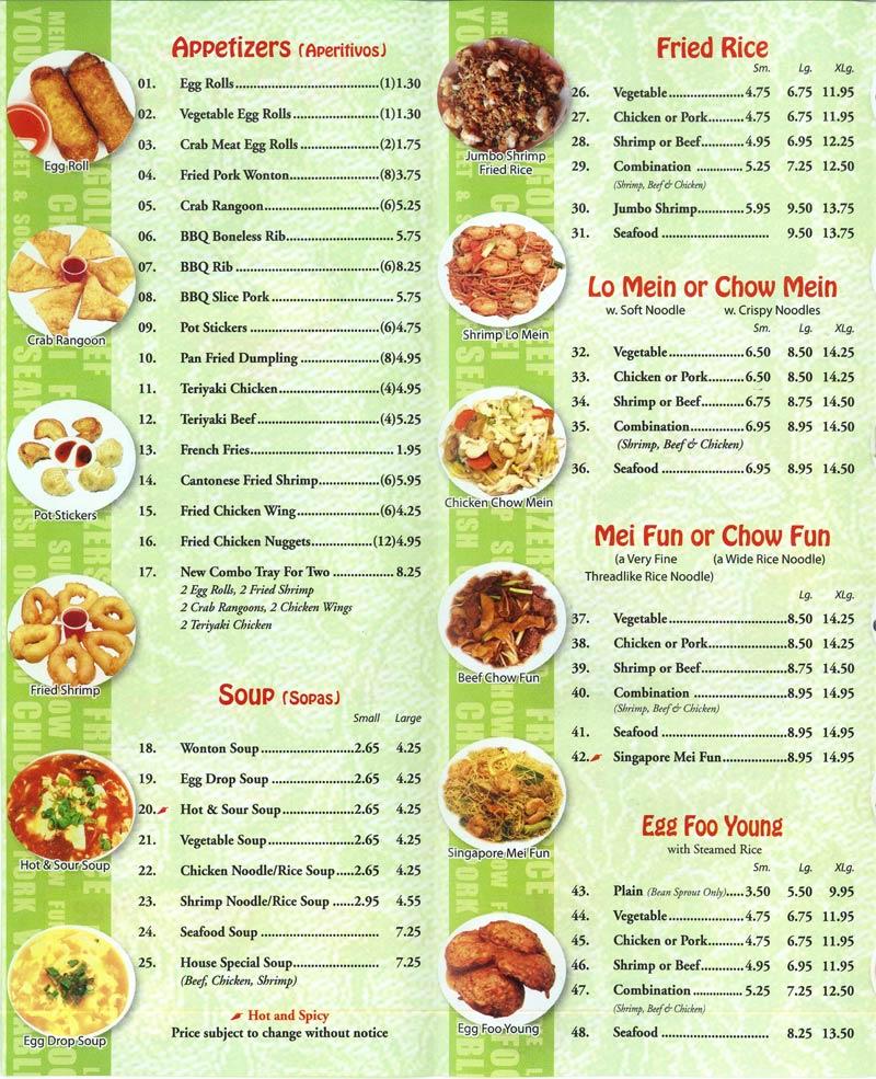Wen Cai Chinese Kitchen Menu